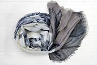 Легкий шарф Ибица из вискозы и хлопка, графит