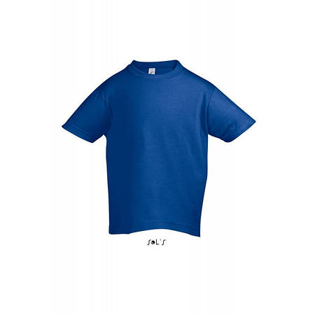 Футболка ярко-синий  Regent Kids, для детей от 2 до 12 лет