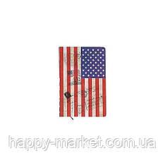"""Блокнот GYBW15-12 """"Американский флаг"""" в линию (9.7*14 см.)"""