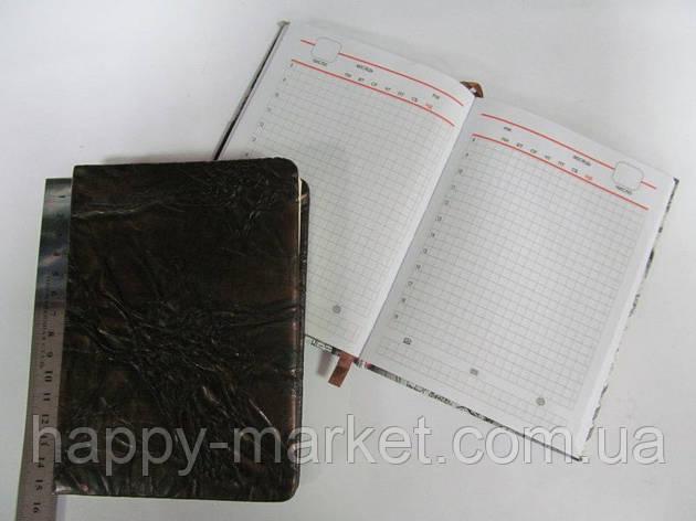 """Щоденник недатований (A5) 13-417-A5-F-2 """"Шкіра жата бронза"""" в клітку, фото 2"""