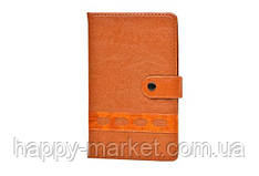 Блокнот-алфавитка 0923А-48К RUS на кнопке с ручкой (82 листа, 17.5*10.5 см.)