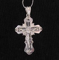 Крест СПАСИ И СОХРАНИ серебро 925 пр. №504