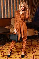 Комбинезон женский брючный, материал ЗАМШ ДВУХСТОРОННИЙ 4 расцветки ,фото реал вмаг №9029