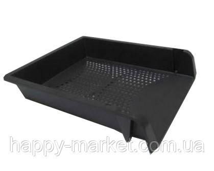 Лоток для бумаги горизонтальный пластиковый L11470 черный, фото 2