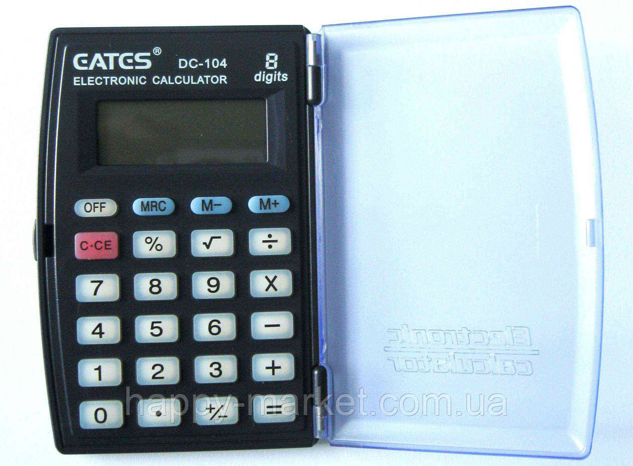 """Калькулятор """"EATES"""" DC-104 (8 розрядний, з кришкою, 1 харчування)"""