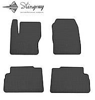 Не скользящие коврики Ford Focus C-Max 2011- Комплект из 4-х ковриков Черный в салон. Доставка по всей Украине. Оплата при получении