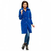 Пальто женское кашемировое Леонардо 3 синее,верхняя одежда женская