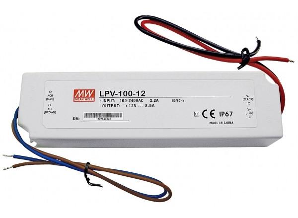 Блок живлення 12вольт 100вт LPV-100-12 MEAN WELL герметичний 3223