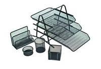 Офисный набор 7809/9605 металл (5 предметов, лоток горизонт. 3 секции)