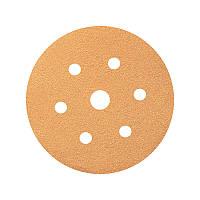 Абразивный шлифовальный диск 3W, диаметр 150 мм, 7 отверстий, P=40