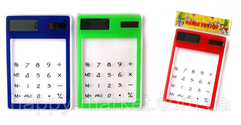 """Калькулятор 14560 """"Прозрачный"""" 8 разрядный/работает от солнечной батареи, фото 2"""