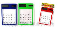 """Калькулятор 14560 """"Прозрачный"""" 8 разрядный/работает от солнечной батареи"""