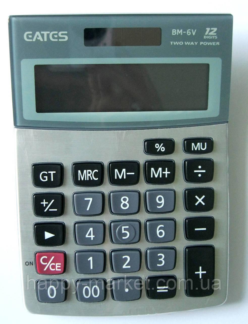 """Калькулятор """"EATES"""" BM-6V (12 разрядный, 2 питания)"""