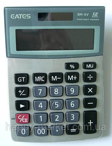 """Калькулятор """"EATES"""" BM-6V (12 разрядный, 2 питания), фото 2"""