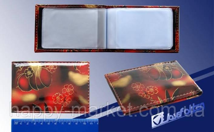 """Визитница на 32 визитки V-7240 """"Цветы"""", фото 2"""