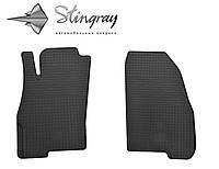 Резиновые коврики Fiat Grande Punto  2009- Комплект из 2-х ковриков Черный в салон. Доставка по всей Украине. Оплата при получении