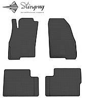 Резиновые коврики Fiat Grande Punto  2009- Комплект из 4-х ковриков Черный в салон. Доставка по всей Украине. Оплата при получении