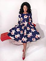Женское платье норма средней длины с длинным рукавом со свободным низом трикотаж 145_4