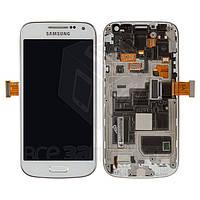 Дисплейный модуль для мобильного телефона Samsung I9190 Galaxy S4 mini, белый, original