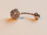 Серебряная серьга для пирсинга пупка. Артикул Пр2Ф/030