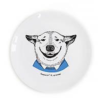 Тарелка Собака-улыбака укр