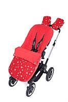 Фут-муфта в прогулочную коляску «Снежинки на красном», GoforKid