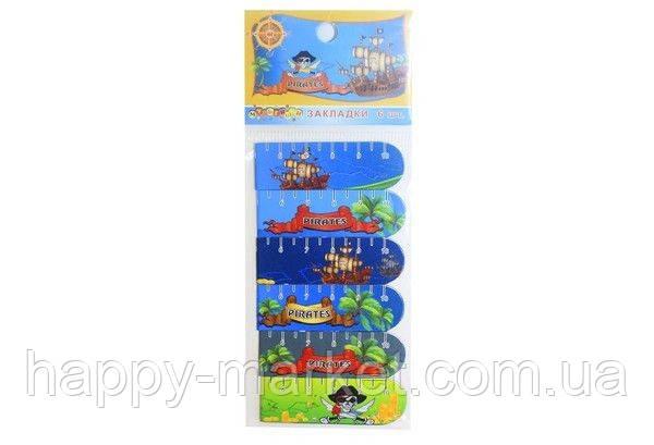"""Закладка з магнітом 7015 """"Пірати"""" (6 шт. в упаковці )"""