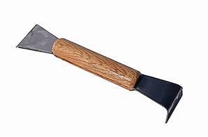 Стамеска нержавеющая с деревянной ручкой 200мм