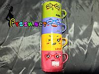 Набор детских чашек облегченных противоударных 200 мл (4 шт) Lindo K-546