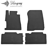 Резиновые коврики Stingray Стингрей Honda Civic sedan 2013- Комплект из 4-х ковриков Черный в салон. Доставка по всей Украине. Оплата при получении