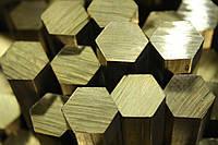 Пруток латунный ЛС59-1 шестигранный 10х3000