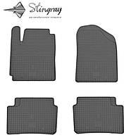 Резиновые коврики Stingray Стингрей Hyundai i10  2008- Комплект из 4-х ковриков Черный в салон. Доставка по всей Украине. Оплата при получении
