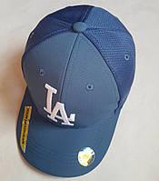 """Кепка подростковая  """"LA"""". Размер  54-55 см. Голубой. Оптом."""