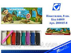 """Пластилин 280015-8 """"Каменный век"""" 8 цв. в картонной упаковке со стеком"""