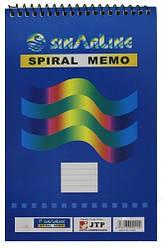 "Блокнот на спирали (A6) SP-03512 ""Sinarline"" мягкая обложка (50 листов, 10.5*14.8 см.)"