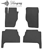 Резиновые коврики Stingray Стингрей Kia Sorento  2002-2009 Комплект из 4-х ковриков Черный в салон. Доставка по всей Украине. Оплата при получении