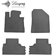 Резиновые коврики Stingray Стингрей Kia Sorento  2012-2015 Комплект из 4-х ковриков Черный в салон. Доставка по всей Украине. Оплата при получении