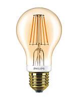 Лампа светодиодная декоративная Philips LED Fila Dim E27 7.5-60W 2700K 230V A60 GOLD, 929001228108