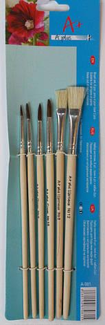 Набор кистей пони\кабан A-981 6 шт. (№ 2,4,6,8,10,12), фото 2