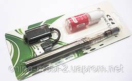 "Электронная сигарета  EGO-CE4 650 mAh + заправка ""Клубника/ Strawberry"", silver, фото 3"