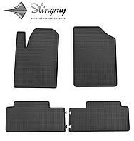 Не скользящие коврики Peugeot Partner  1999-2008 Комплект из 4-х ковриков Черный в салон. Доставка по всей Украине. Оплата при получении