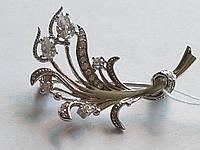 Срібна брошка з фіанітами. Артикул Бр2Ф/004, фото 1