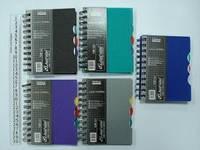 Блокнот на спирали (A6) 6C50-A (8464) с пластиковыми закладками (120 листов)