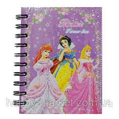 """Блокнот на спирали (A6) B290-(01/02/03/04) """"Princess"""" с закладками"""