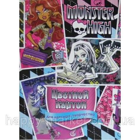 "Картон A4 Лунапак ""Monster High"" (8 цв.+1 золотистый), фото 2"