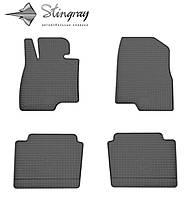 Резиновые коврики Stingray Стингрей Mazda 6  2013- Комплект из 4-х ковриков Черный в салон. Доставка по всей Украине. Оплата при получении