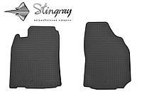 Резиновые коврики Mitsubishi Pajero Sport  1996-2011 Комплект из 2-х ковриков Черный в салон. Доставка по всей Украине. Оплата при получении