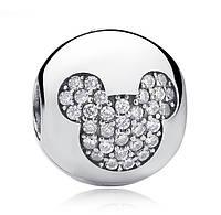 """Шарм клипса №1075 """"Микки Маус. Disney"""" для браслета Пандора PANDORA (Серебро)"""