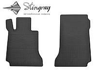 Резиновые коврики Stingray Стингрей Mercedes-Benz W204 C 2007- Комплект из 2-х ковриков Черный в салон. Доставка по всей Украине. Оплата при получении