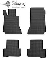 Резиновые коврики Stingray Стингрей Mercedes-Benz W204 C 2007- Комплект из 4-х ковриков Черный в салон. Доставка по всей Украине. Оплата при получении